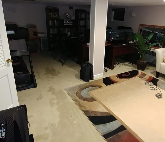 Basement Water Damage in Piscataway, NJ Before