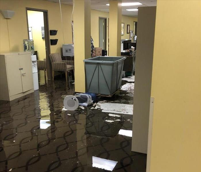 Flooded Offices in Somerset Before