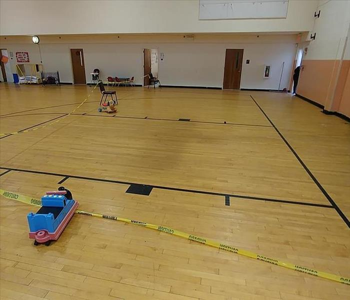 Gymnasium Flooded in Somerset, NJ Before