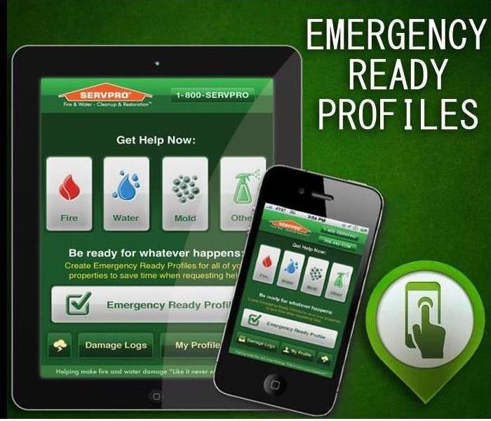 SERVPRO Emergency Ready Profile on smartphones or tablets,